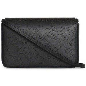 Burberry Perforated Logo Chain Wallet Black